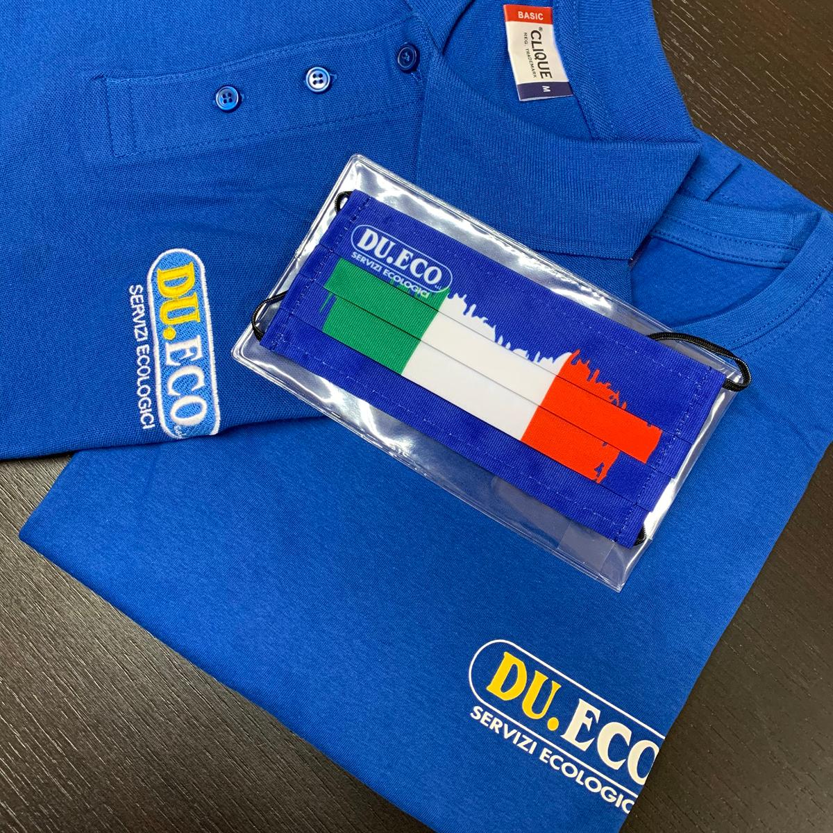 T-shirt, polo e mascherine personalizzate con logo - Du.Eco Costa Volpino (BG)