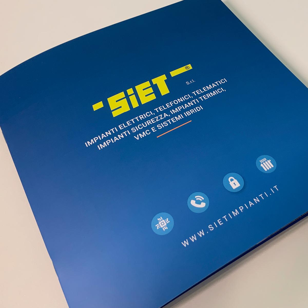 Progettazione grafica e stampa brochure aziendale - Siet Impianti Albino (Bergamo)