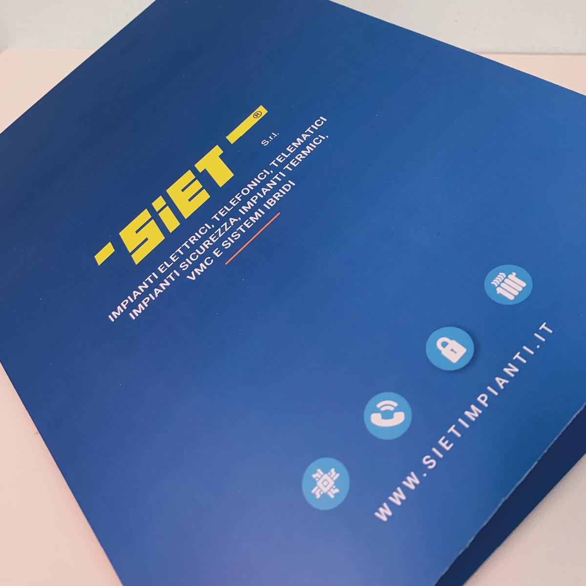 Cartellina aziendale personalizzata - Siet Impianti Albino (Bergamo)