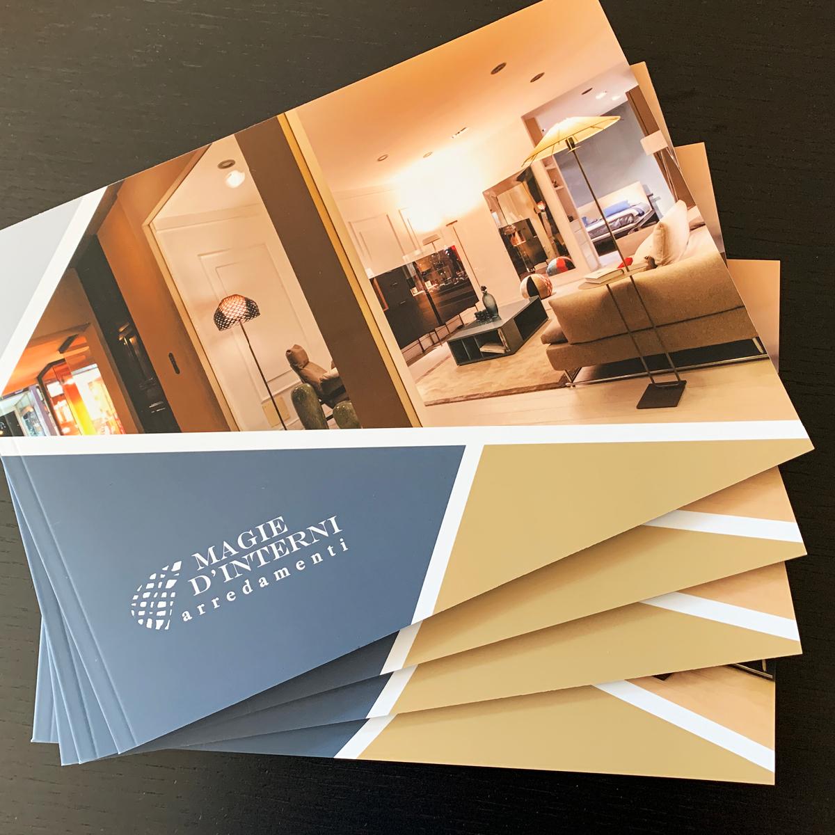 Progettazione grafica book portfolio - Magie d'interni arredamenti Lovere (Bg)