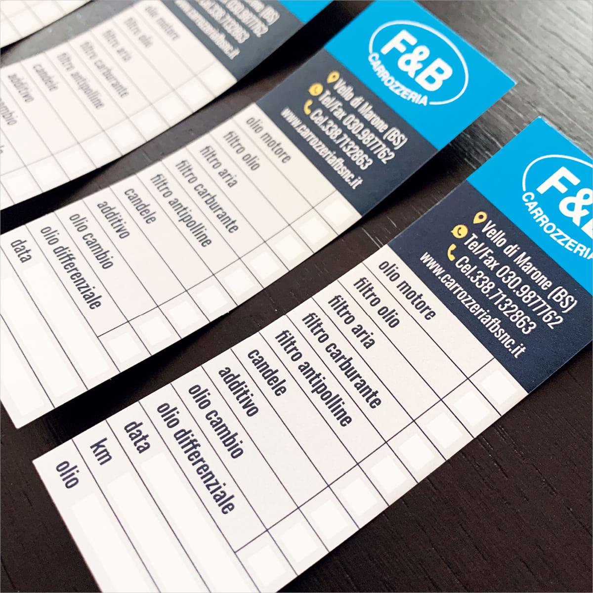 Adesivi su misura personalizzati - Carrozzeria F&B Marone (Brescia)