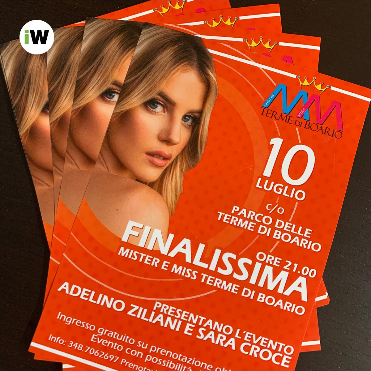 Stampa flyer A5 Finalissima Mister e Miss Terme di Boario